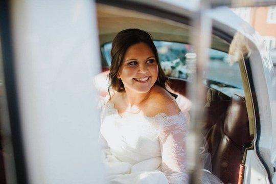 Becky Cox on her wedding day