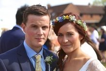 Danielle pictured at her wedding