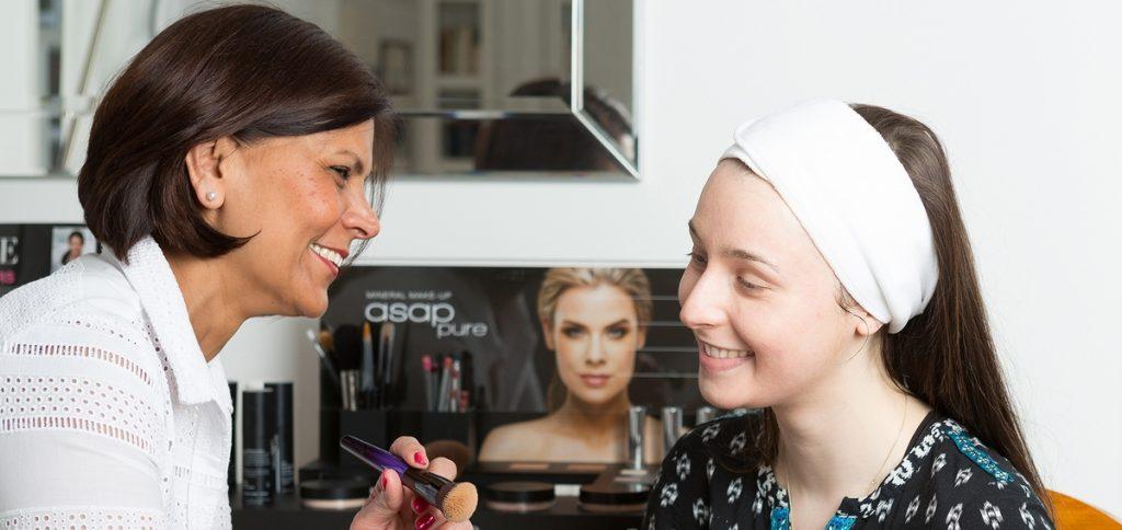 Susan applying cosmeceuticagrade makeup