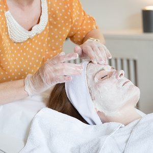 During a Vitamin C Signature Face Lift Peel